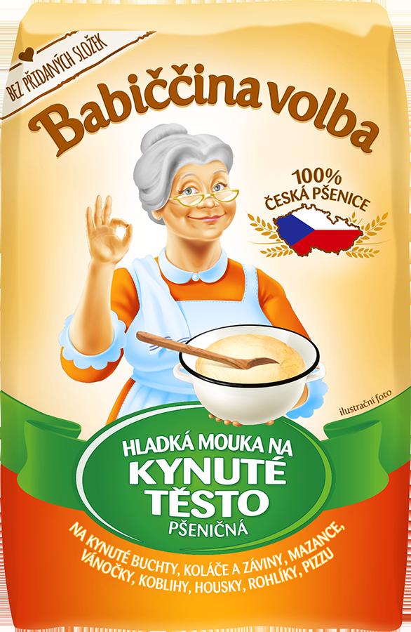 Hladká mouka na kynuté těsto pšeničná - Babiččina volba