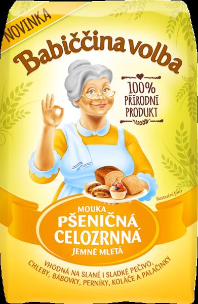 Mouka pšeničná celozrnná jemně mletá - Babiččina volba