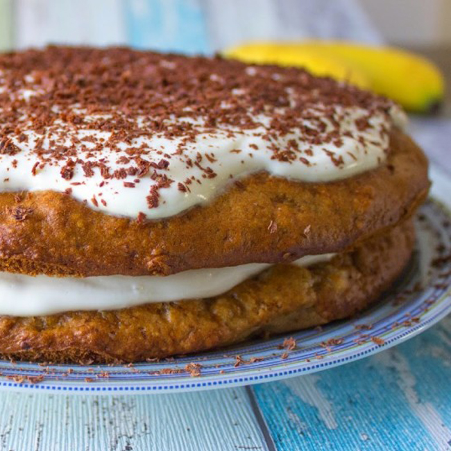 Banánový koláč smascarpone