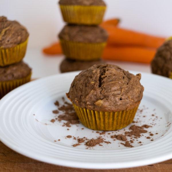 Špaldové mrkvové muffiny