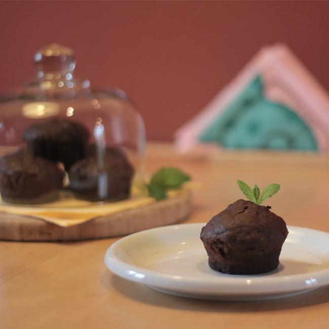 Čokoládové muffiny sřeckým jogurtem