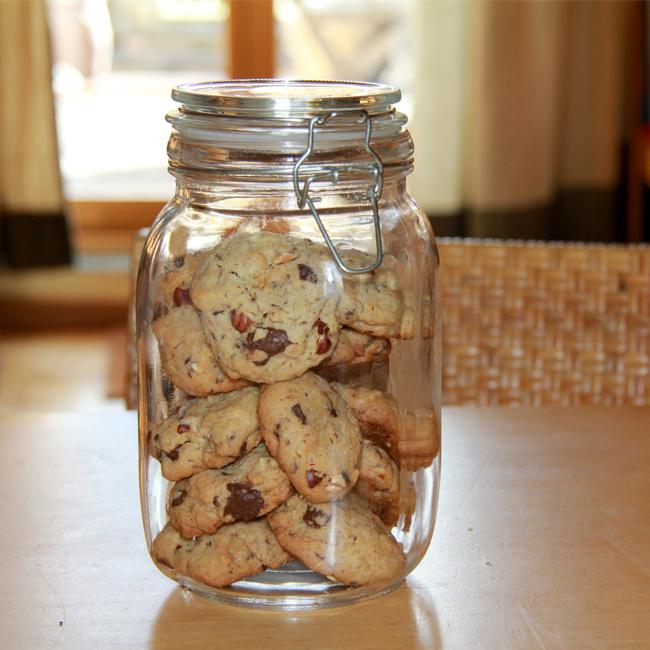 Kakaovo-oříškové sušenky