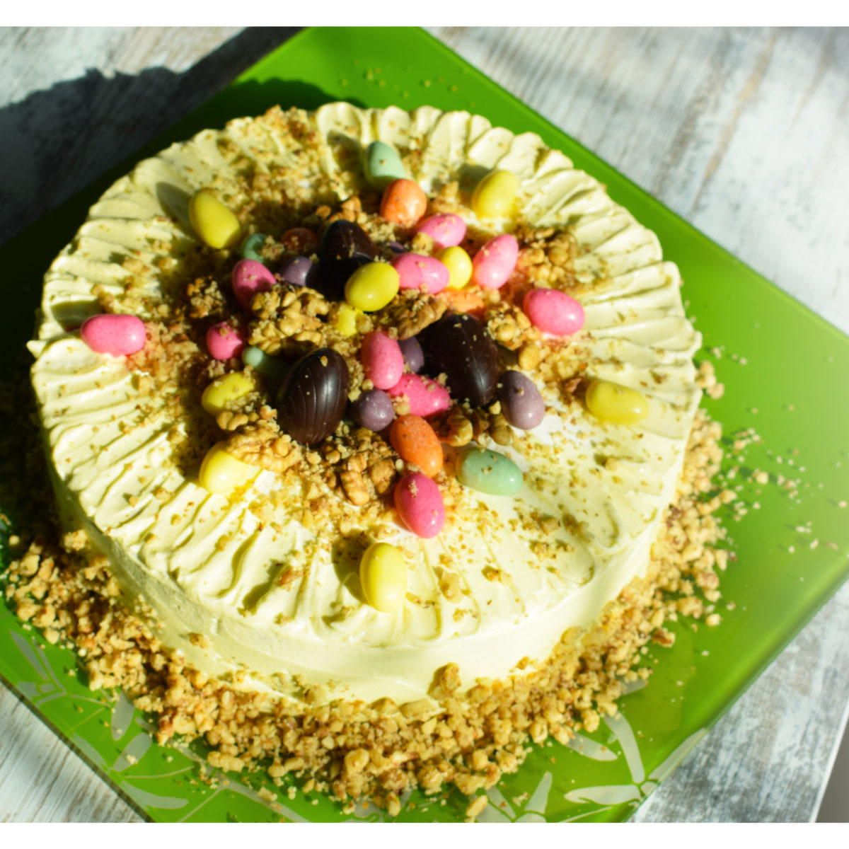 Velikonoční mrkvový dort
