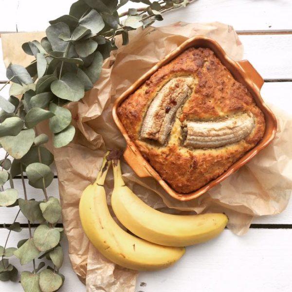Celozrnný banana bread sořechy