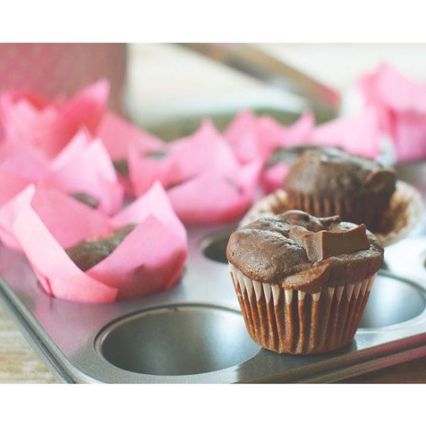 Čokoládové špaldové muffiny