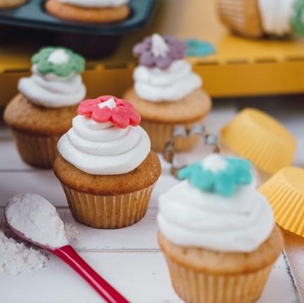 Cupcakes stvarohovým krémem