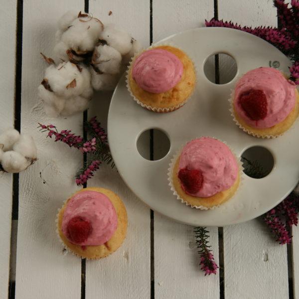 Cupcaky smalinovou polevou