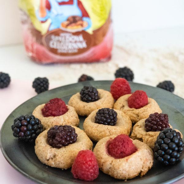 Celozrnné sušenky smalinami aostružinami