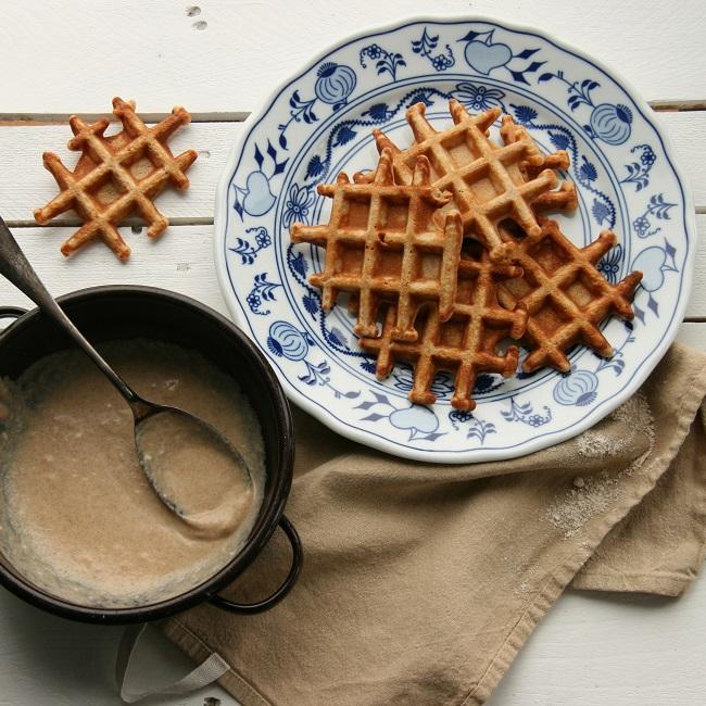 Špaldové wafle