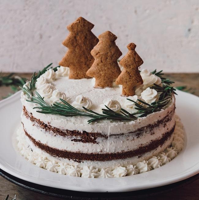 Vánoční dort stvarohovým krémem