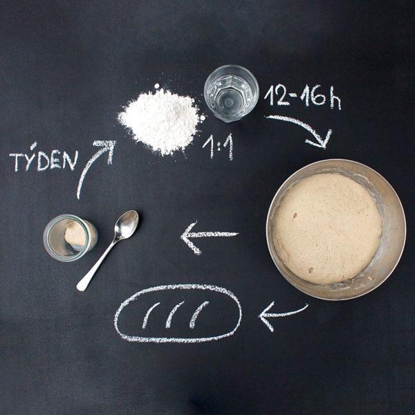 Jednoduché vedení domácího žitného kvasu
