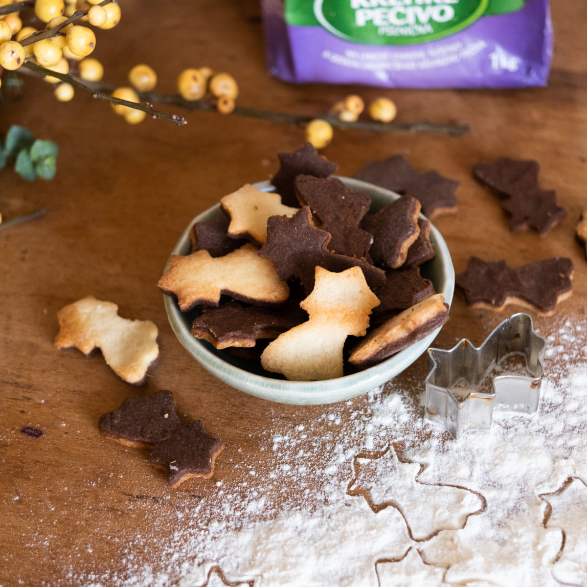 Dvoubarevné sušenky