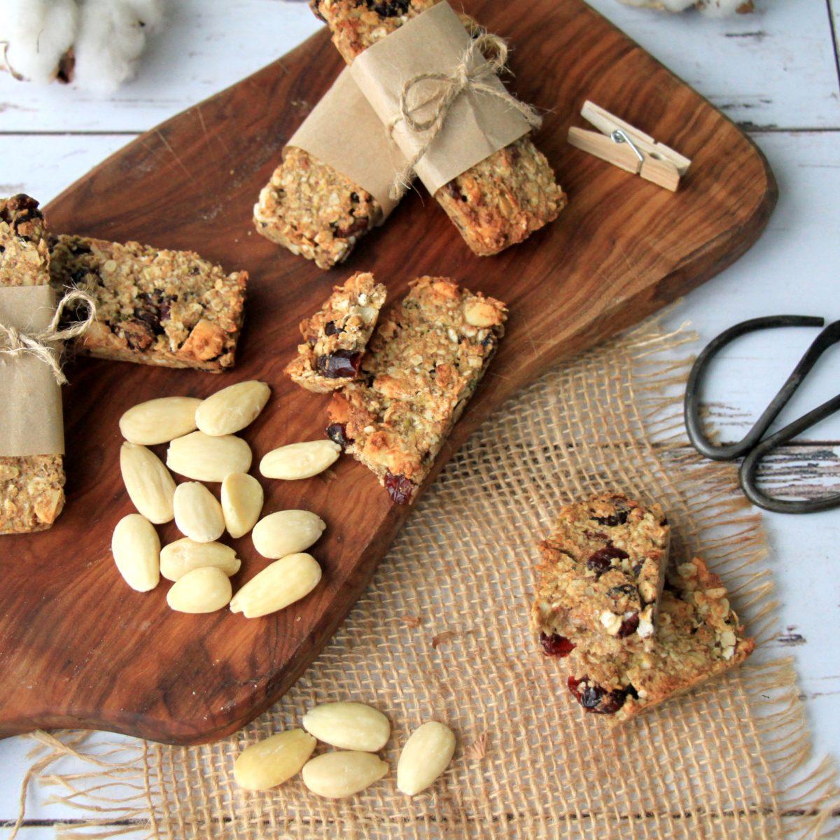 Domácí ořechové müsli tyčinky