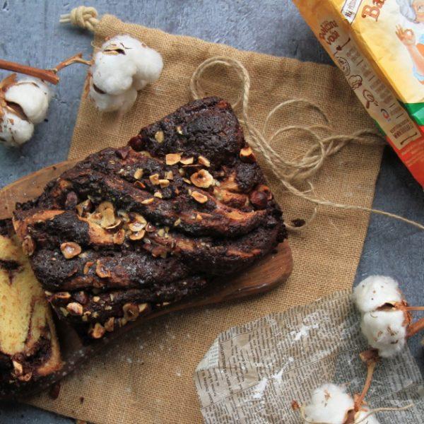 Čokoládová babka slískovými oříšky